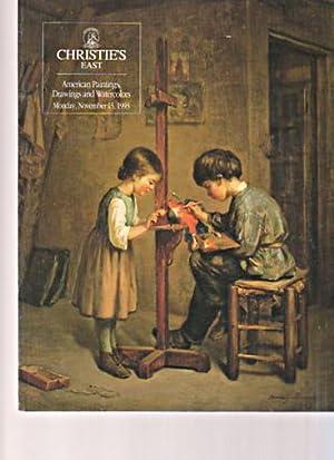 Christies November 1993 American Paintings, Drawings, Watercolours: Christies