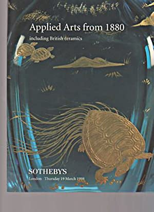Sothebys 1998 Applied Arts from 1880 &: Sothebys