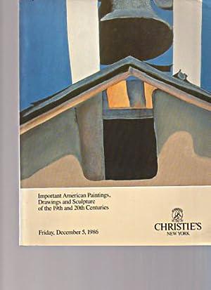 Christies 1986 Important American Paintings Drawings 19th: Christies