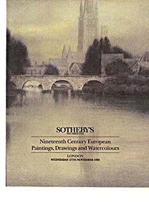 Sothebys 1993 19th Century European Paintings, Drawings: Sothebys