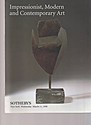 Sothebys March 1998 Impressionist, Modern & Contemporary: Sothebys
