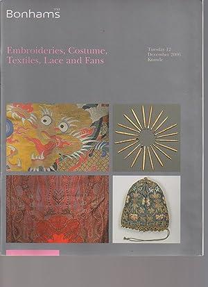 Bonhams 2006 Embroideries, Costume, Textiles, Lace, Fans: Bonhams
