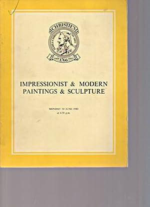 Christies June 1980 Impressionist & Modern Paintings,: Christies