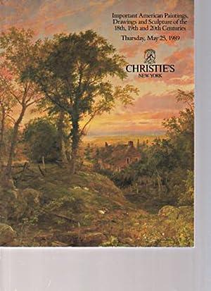 Christies 1989 Important American Paintings 18 -: Christies