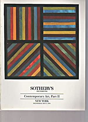 Sothebys 1995 Contemporary Art, Part II: Sothebys