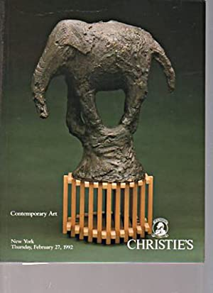 Christies February 1992 Contemporary Art: Christies
