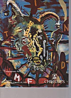 Christies February 1993 Contemporary Art: Christies