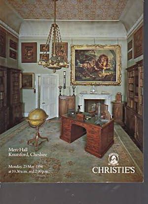 Christies 1994 Mere Hall, Knutsford Cheshire: Christies