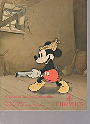 Christies 1993 Animation Art and Collectables