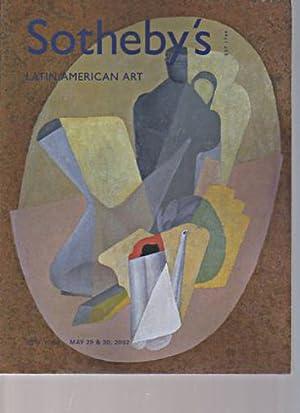 Sothebys May 2002 Latin American Art: Sothebys
