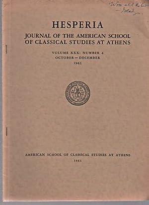Hesperia 1961 Journal of Classical Studies, vol: Magazines & Periodicals