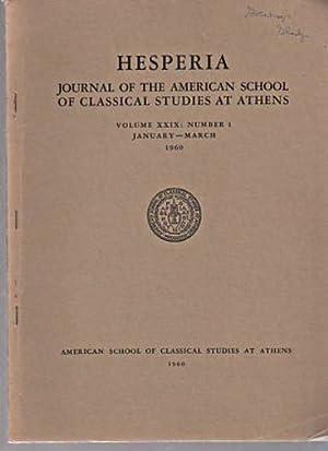 Hesperia 1960 Journal of Classical Studies, vol: Magazines & Periodicals