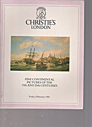Christies 1984 Fine Continental Pictures 19th &: Christies