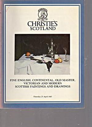 Christies 1985 Fine Scottish, English Paintings &: Christies