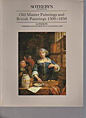 Sothebys October 1987 Old Master Paintings, British Paintings 1500-1850