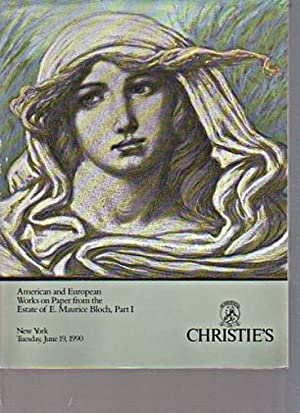 Christies 1990 Bloch Collection American Works on: Christies