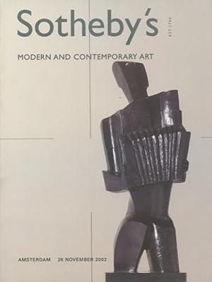 Sothebys 2002 Modern & Contemporary Art: Sothebys