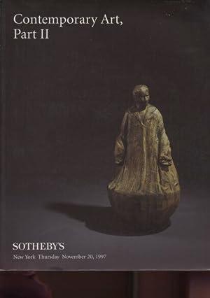Sothebys 1997 Contemporary Art Part II: Sothebys