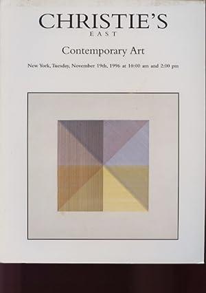 Christies November 1996 Contemporary Art: Christies