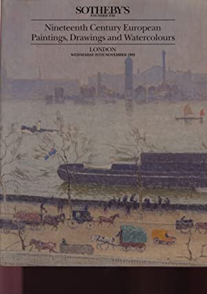 Sothebys 1992 19th Century European Paintings, Drawings: Sothebys