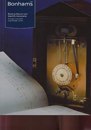 Bonhams 2004 Morse to Marconi & Scientific: Bonhams