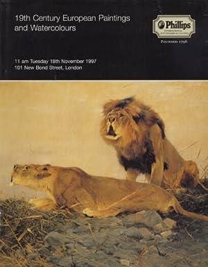 Phillips 1997 19th Century European Paintings, Watercolours: Phillips