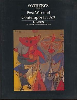 Sothebys 1986 Post War and Contemporary Art: Sothebys