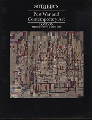 Sothebys March 1992 Post War and Contemporary: Sothebys