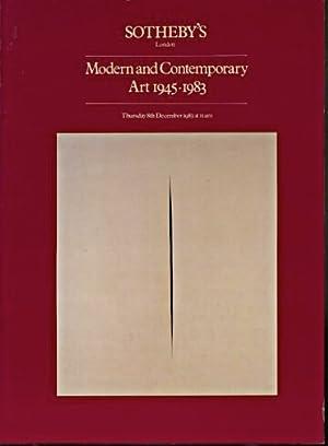 Sothebys 1983 Modern & Contemporary Art: Sothebys