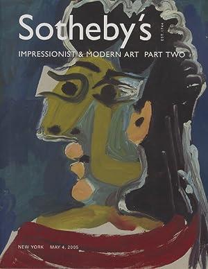 Sothebys May 2005 Impressionist & Modern Art: Sothebys