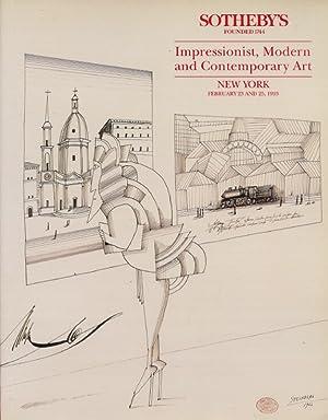 Sothebys February 1993 Impressionist, Modern and Contemporary: Sothebys