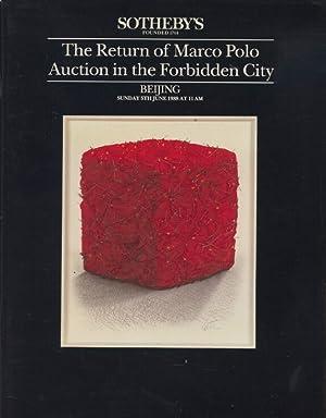 Sothebys June 1988 The Return of Marco: Sothebys