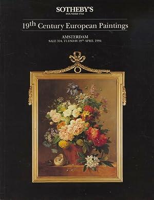 Sothebys April 1994 19th Century European Paintings: Sothebys