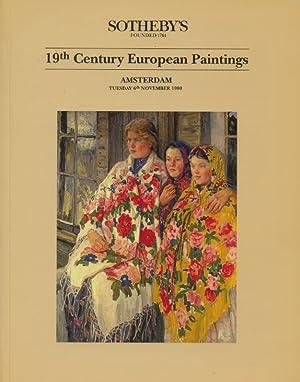 Sothebys November 1990 19th Century European Paintings: Sothebys
