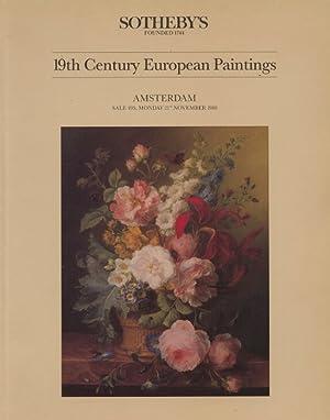 Sothebys November 1988 19th Century European Paintings: Sothebys