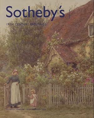 Sothebys November 2003 19th Century Paintings: Sothebys
