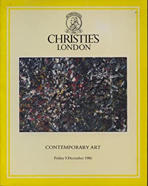 Christies December 1986 Contemporary Art: Christies