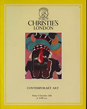 Christies December 1985 Contemporary Art: Christies