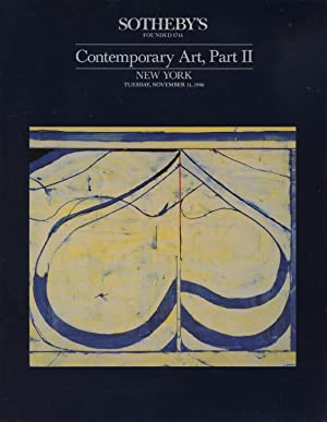 Sothebys November 1986 Contemporary Art, Part II: Sothebys