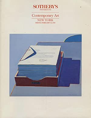 Sothebys February 1988 Contemporary Art