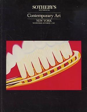 Sothebys October 1987 Contemporary Art: Sothebys