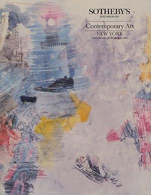 Sothebys October 1988 Contemporary Art: Sothebys