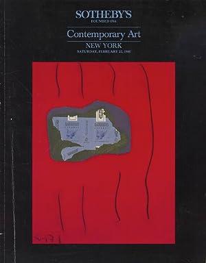 Sothebys February 1986 Contemporary Art: Sothebys