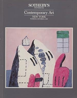 Sothebys October 1985 Contemporary Art: Sothebys