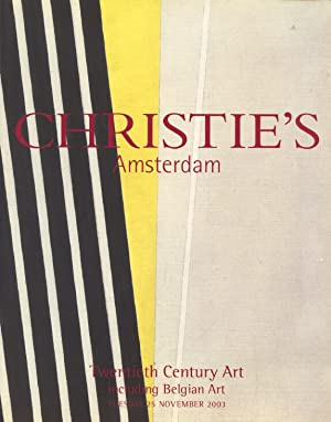 Christies November 2003 Twentieth Century Art including: Christies