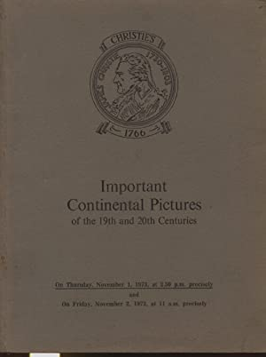 Christies November 1973 Important Continental Pictures -: Christies
