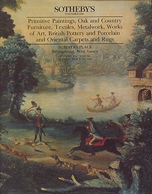 Sothebys June 1994 Primitive Paintings, Oak Furniture,: Sothebys