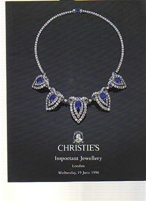 Christies 1996 Important Jewellery London: Christies