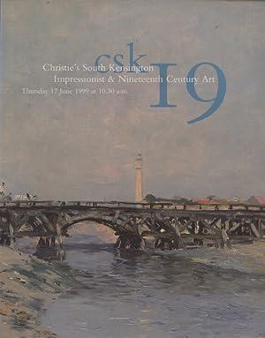 Christies June 1999 Impressionist & Nineteenth Century: Christies