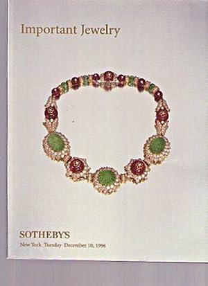 Sothebys 1996 Important Jewellery: Sothebys